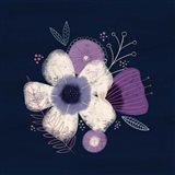 Cream Florals on Navy I