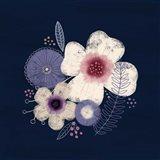 Cream Florals on Navy II