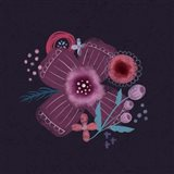 Dark Purple Florals I