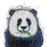 Panda with Leaf