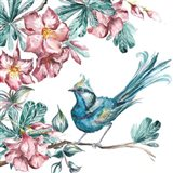 Island Living Bird and Floral I