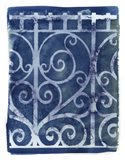 Wrought Iron Cyanotype I