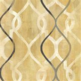 Abstract Waves Black/Gold Tiles II
