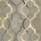 Abstract Waves Black/Gold Tiles III