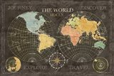 Old World Journey Map Black