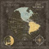 Old World Journey Map Black I