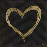 Chevron Sentiments Gold Heart Trio II