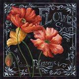 Flowers in Bloom Chalkboard I