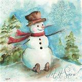 Watercolor Snowmen I