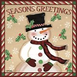 Season's Greetings Snowmen I