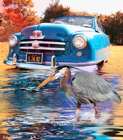 1950 Nash Rambler Convertible Poster by Robert Michaels for $46.25 CAD