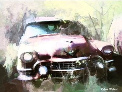 1955 Cadillac in Harmony Poster by Robert Michaels for $45.00 CAD