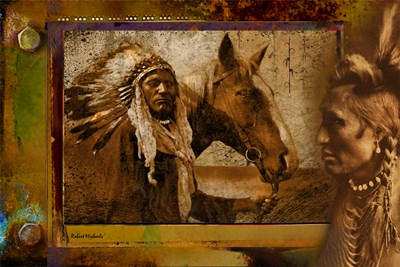 Viewing a Warrior and Horse Poster by Robert Michaels for $45.00 CAD