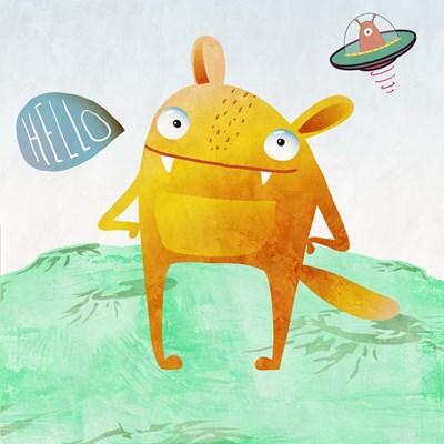 Alien Friend #4 Poster by Skip Teller for $32.50 CAD