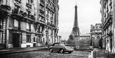 Roadster in Paris Poster by Gasoline Images for $51.25 CAD