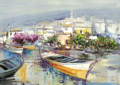 Paese Mediterraneo Poster by Luigi Florio for $61.25 CAD