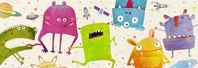 Alien Friends Poster by Skip Teller for $40.00 CAD