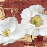 Washed Poppies (Red & Gold) I