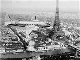 Airplane Over Paris
