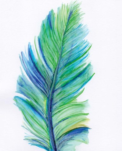 Blue Feather Poster by Anne Seay for $40.00 CAD