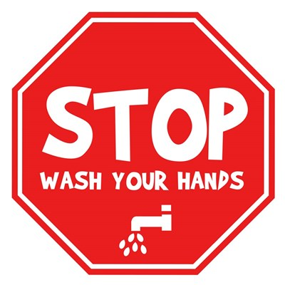 Stop, Wash Your Hands Poster by Anna Quach for $35.00 CAD