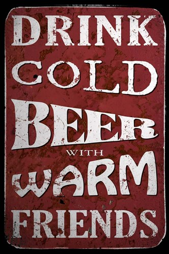 Cold Beer Poster by Cora Niele for $43.75 CAD