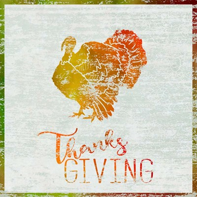 Thanksgiving Turkey Poster by Cora Niele for $35.00 CAD
