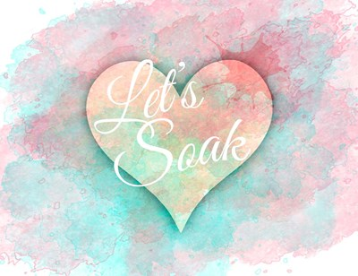 Let's Soak Poster by Cora Niele for $41.25 CAD