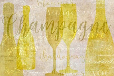 Champagne Poster by Cora Niele for $50.00 CAD