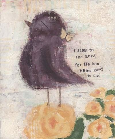 Purple Bird Poster by Cassandra Cushman for $31.25 CAD