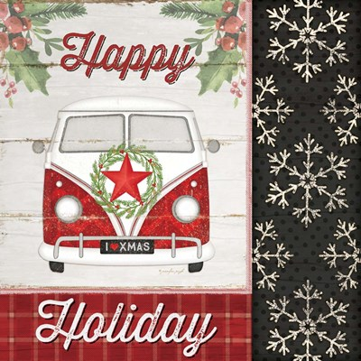 Happy Holiday Poster by Jennifer Pugh for $35.00 CAD