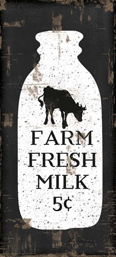 Farmhouse Milk Bottle Poster by Jennifer Pugh for $56.25 CAD