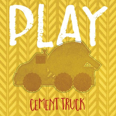 Cement Truck Cement Poster by Jennifer Pugh for $35.00 CAD