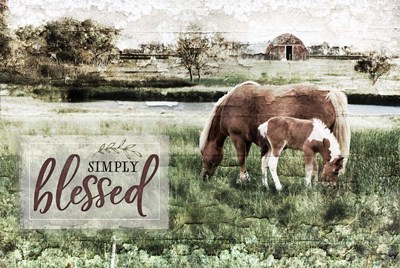 Simply Blessed Poster by Jennifer Pugh for $43.75 CAD