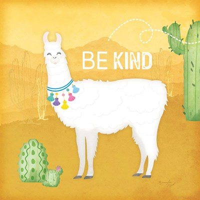 Be Kind Llama Poster by Jennifer Pugh for $48.75 CAD
