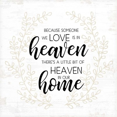 Heaven in Our Home Poster by Jennifer Pugh for $48.75 CAD