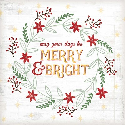 Merry and Bright Poster by Jennifer Pugh for $56.25 CAD