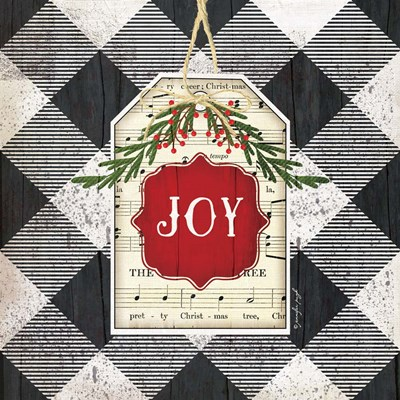Joy Christmas Plaid Poster by Jennifer Pugh for $56.25 CAD