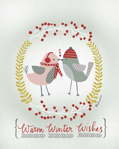Warm Winter Wishes Poster by Katie Doucette for $56.25 CAD