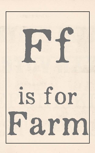 F is for Farm Poster by Katie Doucette for $37.50 CAD