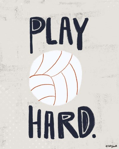 Volleyball Poster by Katie Doucette for $25.00 CAD