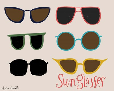 Sunglasses Poster by Katie Doucette for $40.00 CAD