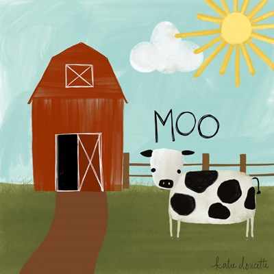 Moo Poster by Katie Doucette for $48.75 CAD