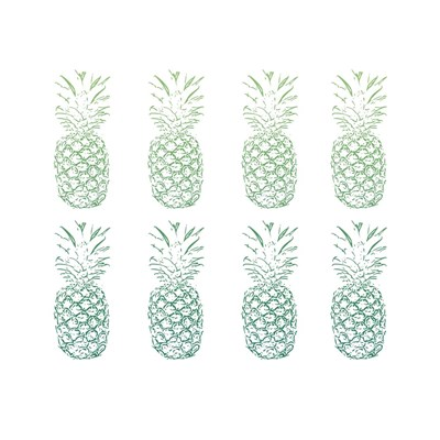 Green Ombre Pineapples Poster by Linda Woods for $35.00 CAD