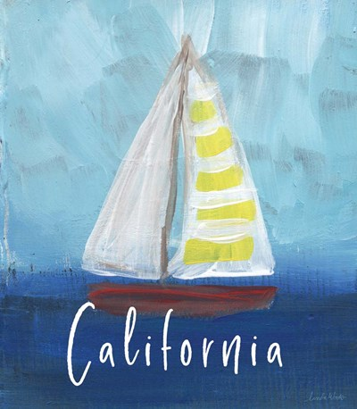 California Sailing Poster by Linda Woods for $52.50 CAD
