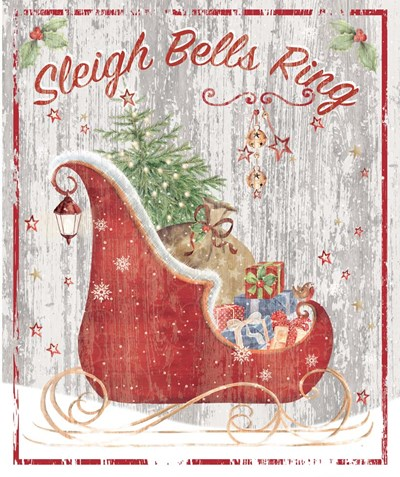 Sleigh Bells Ring Poster by P.S. Art Studios for $38.75 CAD