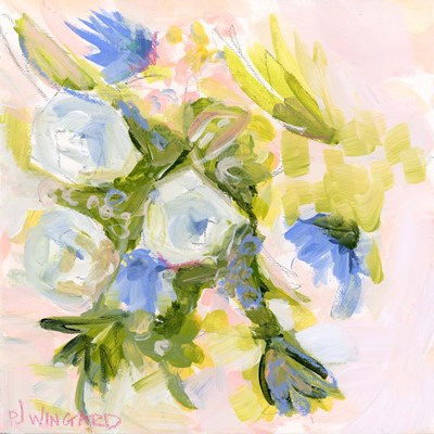 Millennial Pink Floral - Collaborative Poster by Pamela J. Wingard for $56.25 CAD