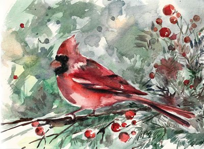 Christmas Cardinal Poster by Sophia Rodionov for $66.25 CAD