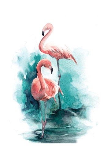 Pink Flamingo Poster by Sophia Rodionov for $42.50 CAD