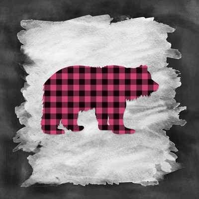 Pink Plaid Bear Poster by Tara Moss for $48.75 CAD